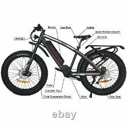 1000W Mid Drive Motor Addmotor Electric Bike 17.5Ah Battery Hydraulic Disc Brake