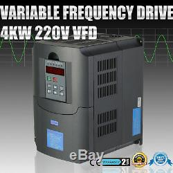 5HP 4KW Variable Frequency Drive VFD 3 Phase Single Speed Control VSD