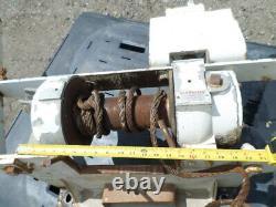 Braden Winch Lgu2-10f-1 12,000 Lb Pull With Hydraulic Drive Motor Used Paccar